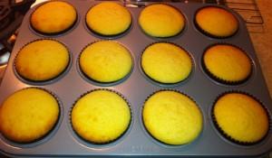 cách làm cupcake trà xanh - nướng bánh