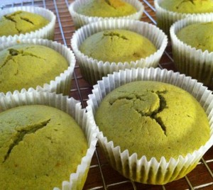 cupcake hòa quyện mùi thơm của trà xanh và bơ