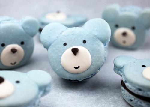 cách làm bánh Macaron hình chú gấu