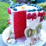 """6 bước đơn giản với bánh sinh nhật dưa hấu cực """"cool"""""""