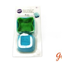 GD340_bộ khuôn cupcake silicon wilton - hình vuông