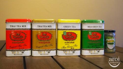 trà thái nhiều màu